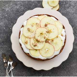 Apple & Chickpea cake with a lemony cream cheese frosting