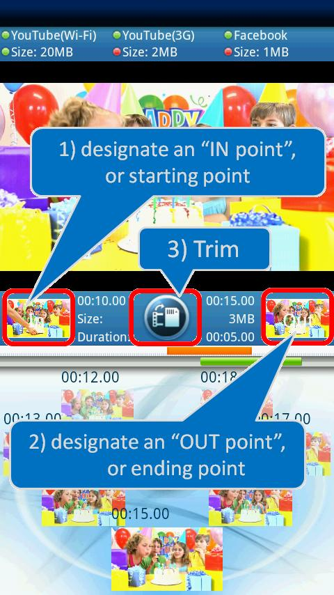 video trimmer - screenshot