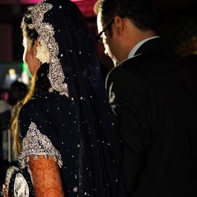 Just Married  by Ali Hasni - Wedding Bride & Groom