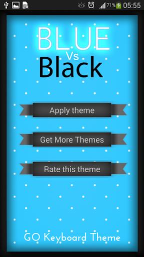 Pretty Blue Vs Black Keyboard