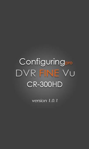 FineVu CR-300HD configuringPRO