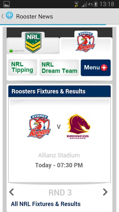 Sydney Roosters News - screenshot