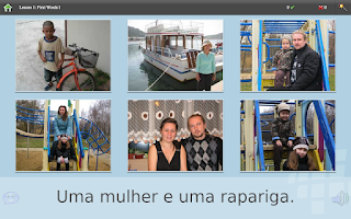 Screenshot of L-Lingo Learn Portuguese