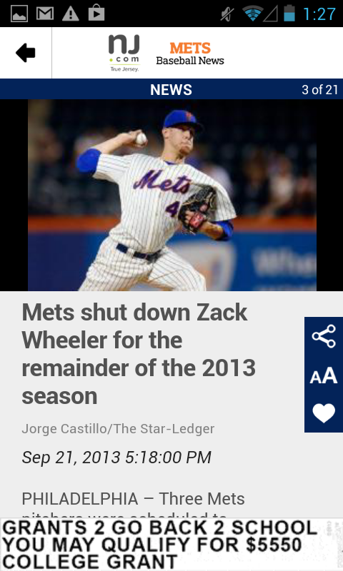 NJ.com: New York Mets News - screenshot