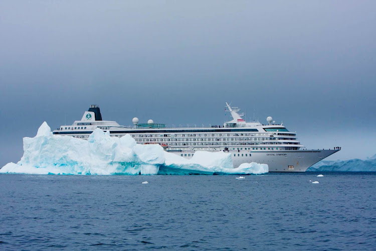 View stunning glaciers while sailing through Antarctica on the Crystal Symphony.