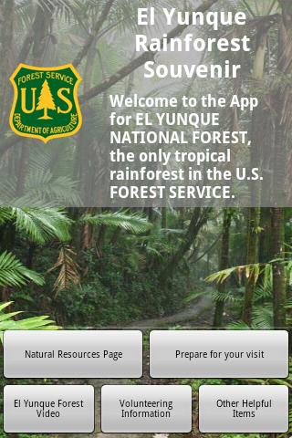 El Yunque National  Forest App - screenshot