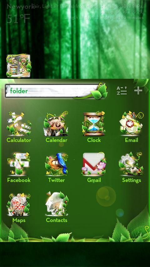 Forest GO LuancherEX Theme - screenshot