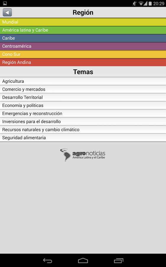 Agronoticias FAO - screenshot