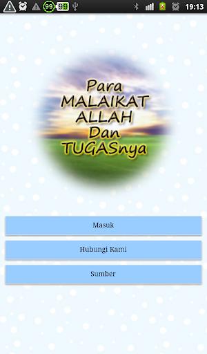 Nama & Tugas Para Malaikat screenshot