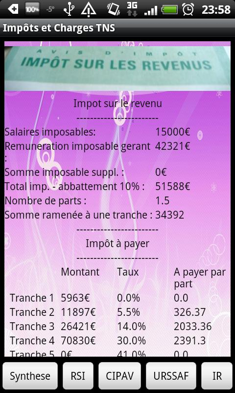 impot et charges sociales 2012 android apps on play