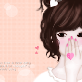 CUKI Theme Lovely pink girl