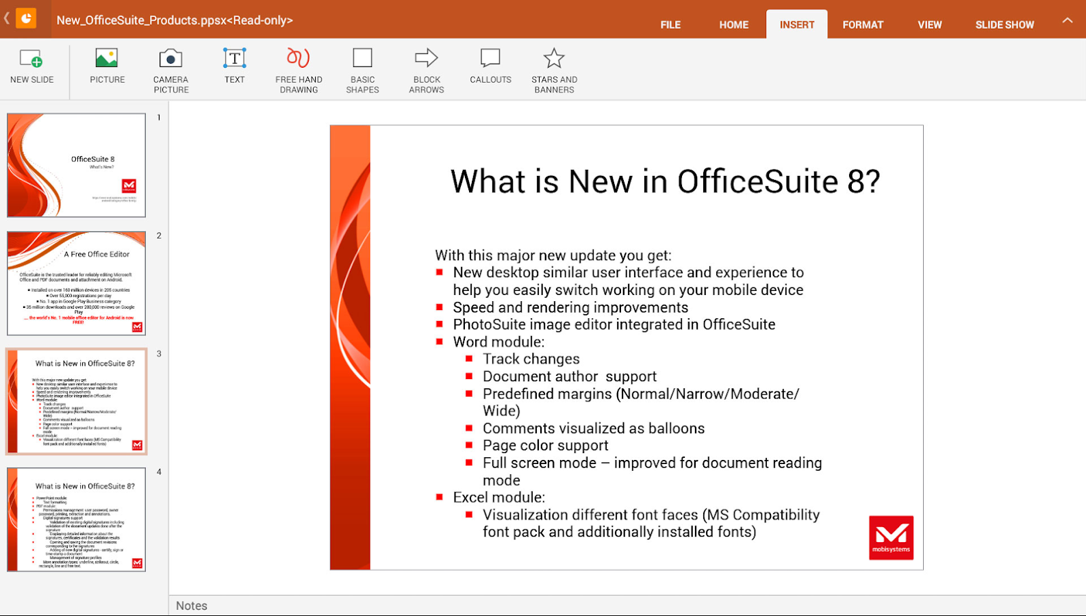 OfficeSuite 8 + PDF Converter - screenshot