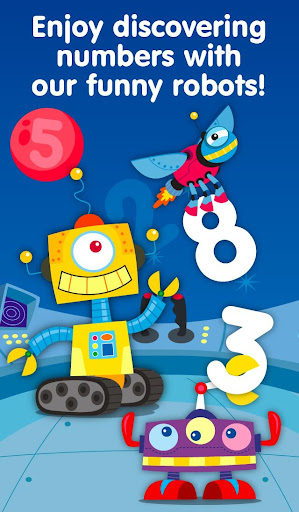 Learn math - Robots Numbers