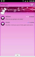 Screenshot of GO SMS - Bubble Hearts