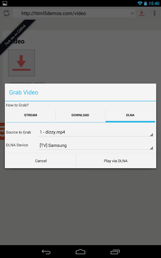How to download xhr video stream