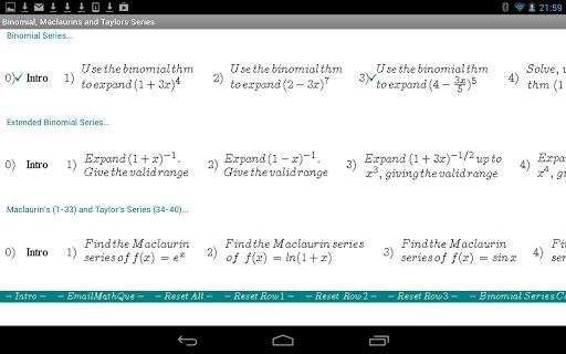 Binomial Maclaurin Taylor S
