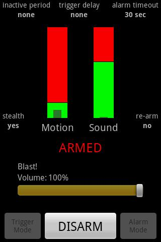 Motion & Sound Alarm - screenshot