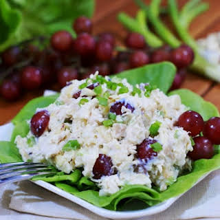 Pina Colada Chicken Salad with Grapes.