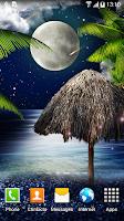 Screenshot of Tropical Night Live Wallpaper