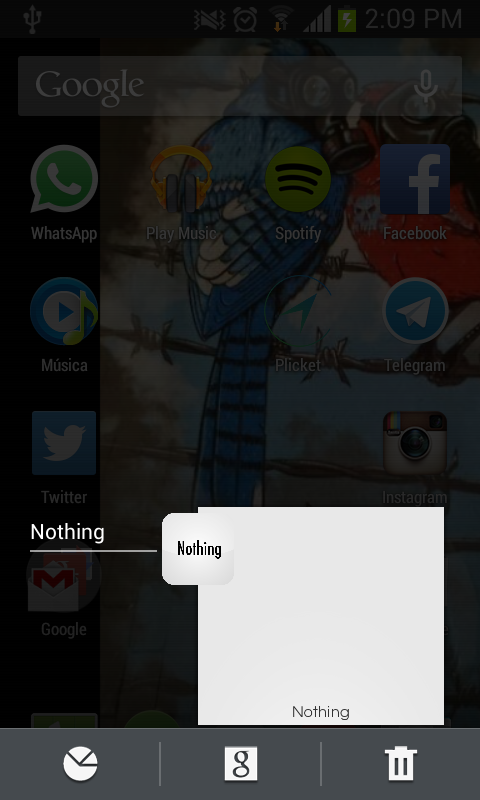 Nothing: captura de pantalla