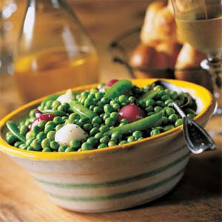 Trio of Peas with Pearl Onions