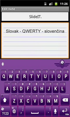 SlideIT Slovak QWERTY Pack - screenshot