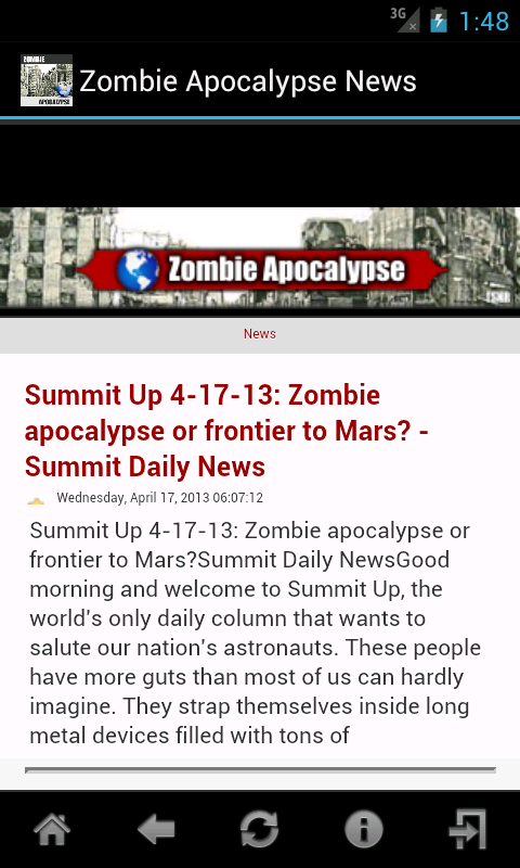 Zombie Apocalypse News - screenshot