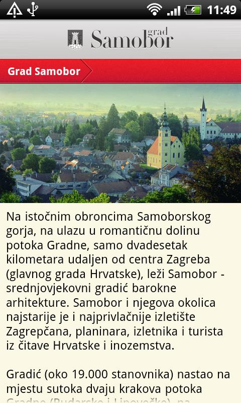 Samobor info - screenshot