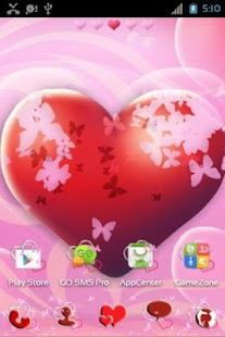 Theme Hearts for GO Launcher- screenshot thumbnail