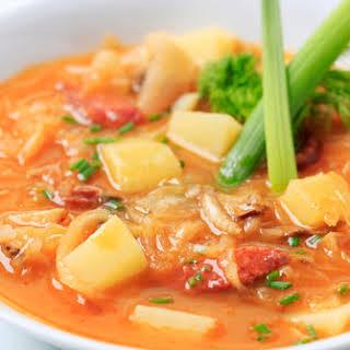 Easy Apple Kielbasa Crockpot Dish.