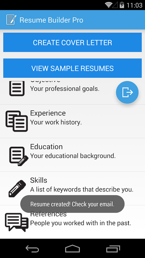 resume builder pro android apps on play