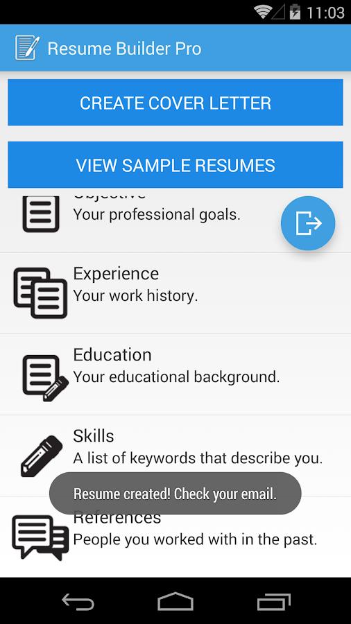 Resume Builder Pro- screenshot