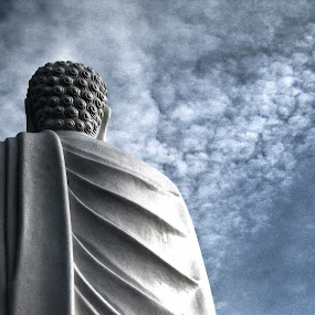 buddha in the sky by Evgenia Messenger - Buildings & Architecture Statues & Monuments ( clouds, vietnam, buddha )