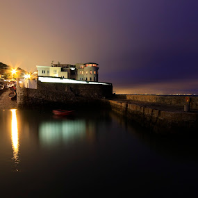 hotel in little port in Dalkey by Jozef Svintek - Buildings & Architecture Office Buildings & Hotels ( port, building, boats, sea, hotel,  )