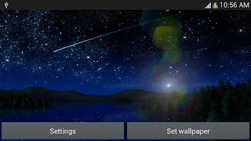 Screenshot of Meteors star firefly Wallpaper