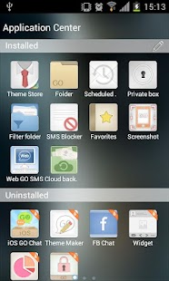 Go SMS Theme Liquid Metal HD - screenshot thumbnail