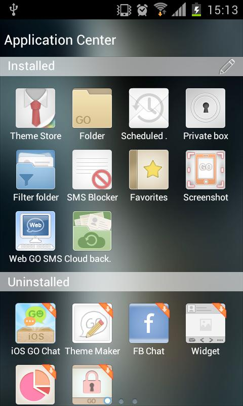 Go SMS Theme Liquid Metal HD - screenshot