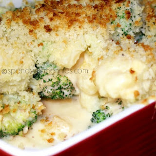 Cheesy Broccoli Cauliflower Bake (No condensed soup required).