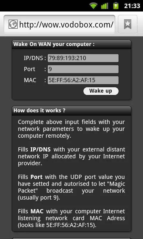 My VODOBOX Flash Server - screenshot