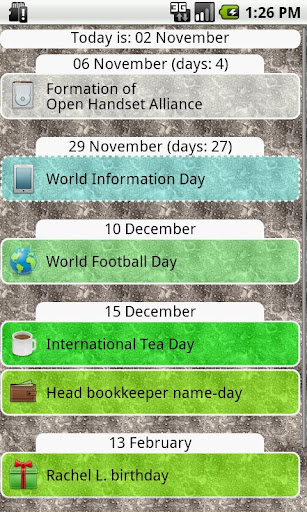 Simple Days List
