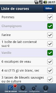 Liste de courses PC à Android - screenshot thumbnail