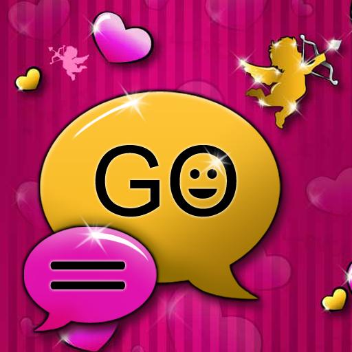 個人化必備App GO SMS Pro Theme lovely pink LOGO-綠色工廠好玩App