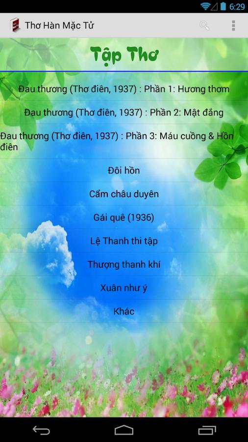 Thơ Hàn Mặc Tử - screenshot