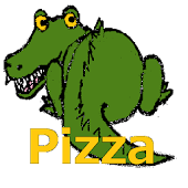 ピザ屋のワニたたき