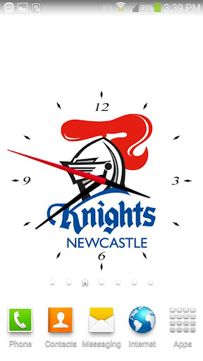 Newcastle Nights Analog Clock