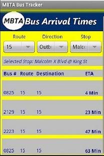 MBTA Bus Tracker