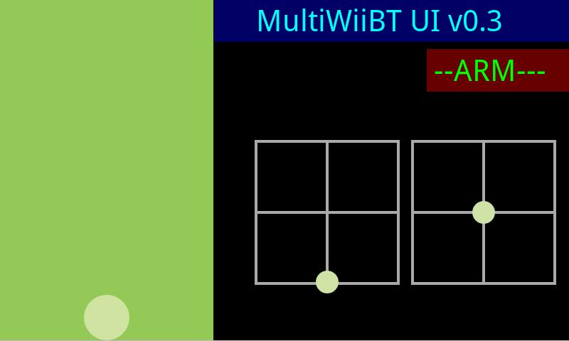 MultiWii BT Remote- screenshot
