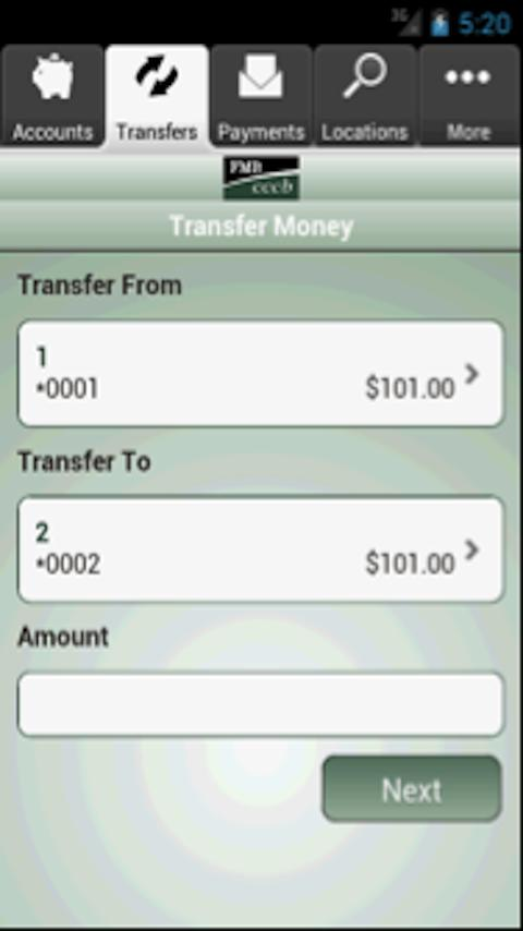 FMB/CCCB Mobile Banking - screenshot