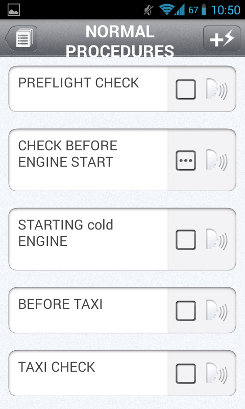 Aviation Checklist - screenshot