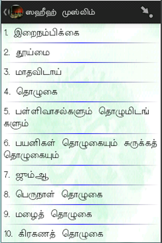 Sahih Bukhari & Muslim (Tamil) - screenshot